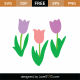 Tulip Flowers SVG Cut File 9339