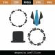 Tuxedo Monogram Frames SVG Cut File 9429