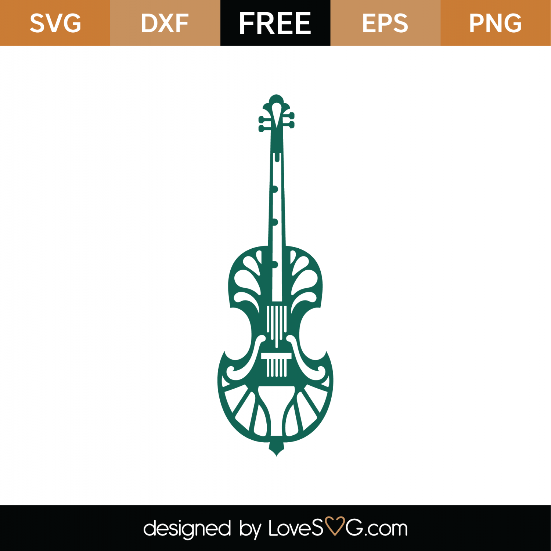 Free Viola Violin Mandala SVG Cut File | Lovesvg com