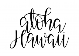 Aloha Hawaii SVG Cut File 9578