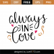 Always In Love SVG Cut File 9614