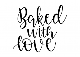 Baked With Love SVG Cut File 9573
