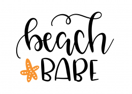 Beach Babe SVG Cut File 9590