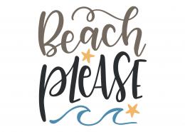 Beach Please SVG Cut File 9454