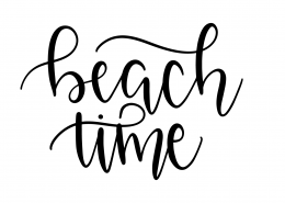 Beach Time SVG Cut File 9582