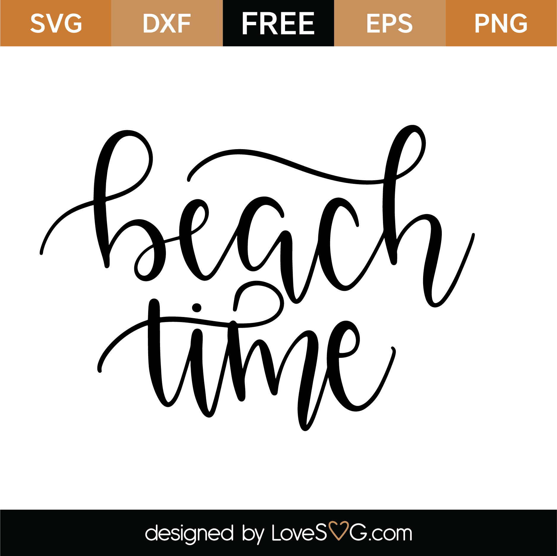 Download Free Beach Time SVG Cut File | Lovesvg.com