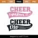 Cheer Mom Cheer Dad SVG Cut File 9457