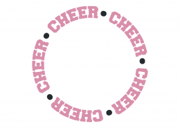 Cheer Monogram Frame SVG Cut File 9456