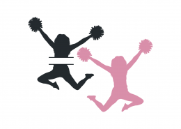 Cheerleaders Split Monogram SVG Cut File 9465