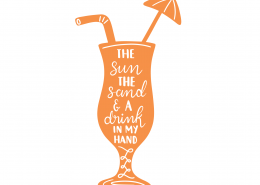 Cocktail SVG Cut File 9507