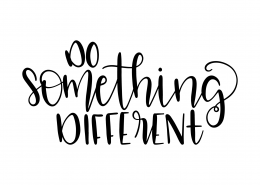 Do Something Different SVG Cut File 9597