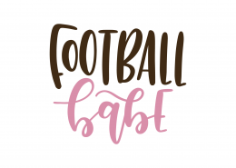 Football Babe SVG Cut File 9468