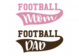Football Mom Football Dad SVG Cut File 9470