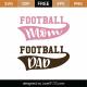 Football Mom Football Dad SVG Cut File 9470