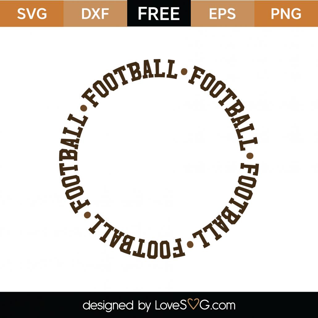 Football Monogram Frame SVG Cut File 9464