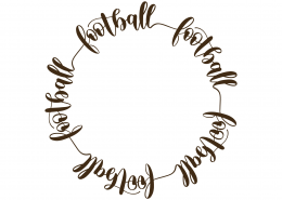 Football Monogram Frame SVG Cut File 9467