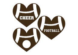 Football Monogrram SVG Cut File 9463