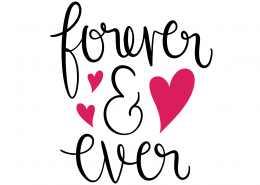 Forever and Ever SVG Cut File 9619