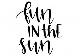 Fun In The Sun SVG Cut File 9607
