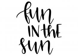 Fun In The Sun SVG Cut File 9607