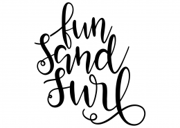Fun Sand Surf SVG Cut File 9605