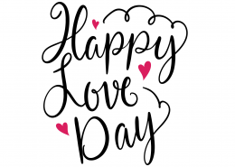 Happy Love Day SVG Cut File 9623