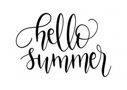 Hello Summer SVG Cut File 9608