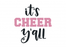 It's Cheer Y'all SVG Cut File 9473
