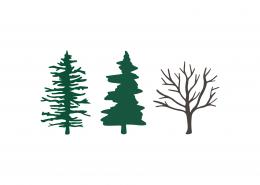 Lake Trees SVG Cut File 9479
