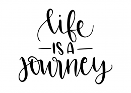 Life Is A Journey SVG Cut File 9554