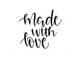 Made With Love SVG Cut File 9570