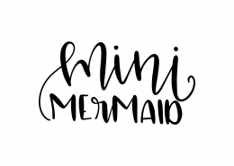 Mini Mermaid SVG Cut File 9567