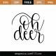 Oh Deer SVG Cut File 9577