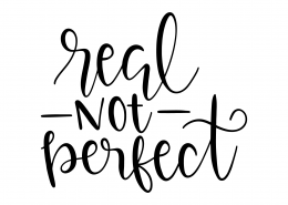 Real Not Perfect SVG Cut File 9509