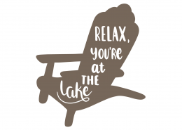 Relax You're On The Lake SVG Cut File 9485