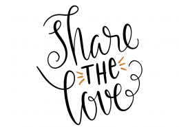 Share The Love SVG Cut File 9640