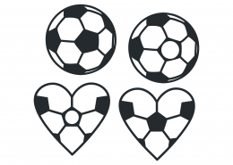 Soccer Heart Monogram SVG Cut File 9490