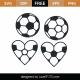 Soccer Heart Monogram SVG Cut File 9490