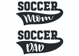 Soccer Mom Soccer Dad SVG Cut File 9487