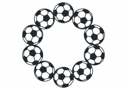 Soccer Monogram Frame SVG Cut File 9489