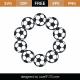 Soccer Monogram Frame SVG Cut File 9489