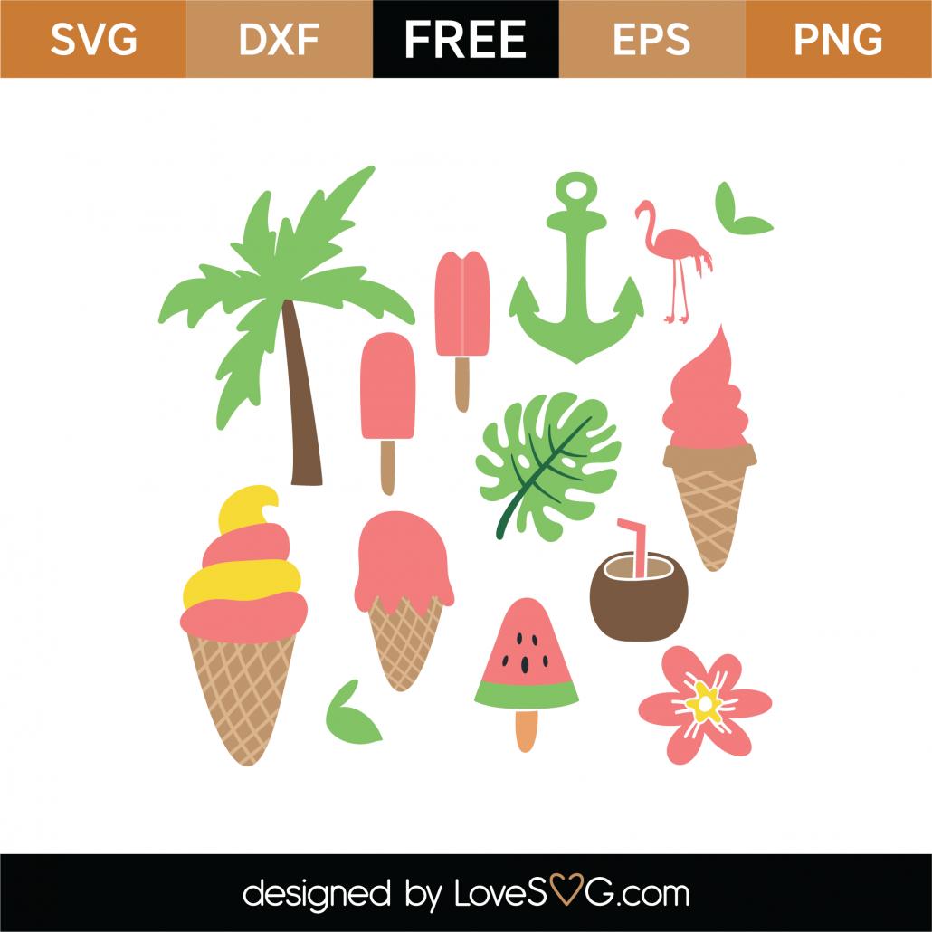 Summer Elements SVG Cut File 9496