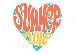 Summer Heart SVG Cut File 9506