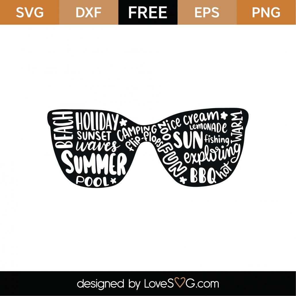 Sunglasses SVG Cut File 9510