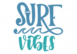 Surf Vibes SVG Cut File 9493