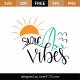 Surf Vibes SVG Cut File 9526