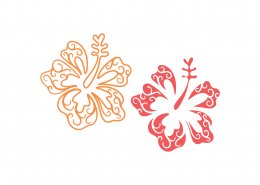 Tropical Flowers SVG Cut File 9497