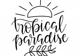 Tropical Paradise SVG Cut File 9533