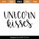 Unicorn Kisses SVG Cut File 9537