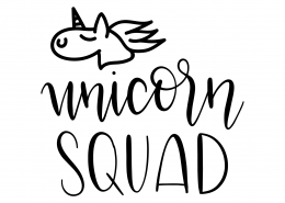 Unicorn Squad SVG Cut File 9534